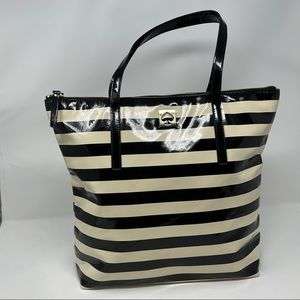 Kate Spade Patent Leather Stripped Tote
